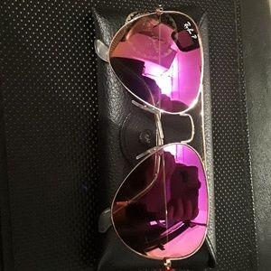 Customs rare ray bans. Pink